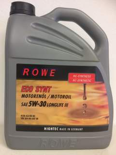 ROWE HIGHTEC ECO SYNT SAE 5W-30 LONGLIFE III - 5 L