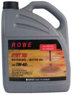 ROWE HIGHTEC SYNT RS SAE 5W-40i  - 5 L